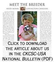 About the Breeder - Royal Spaniels Magazine article
